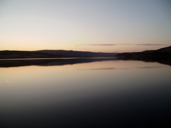 Sunset on the lake where Mark & Deanna will celebrate their wedding