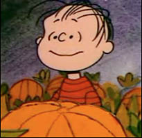 Linus waits for the Great Pumpkin