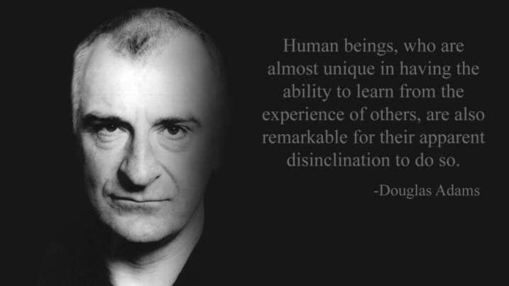 Douglas Adams photo and quote