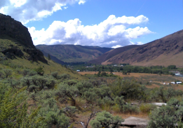 The view west-ish down the Naches.