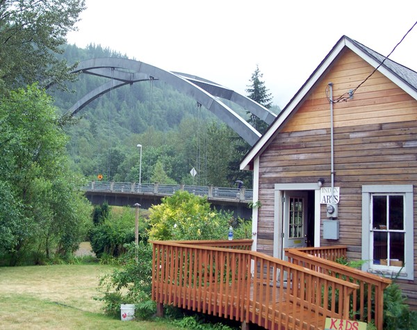 Wes Smith Bridge in Index, WA