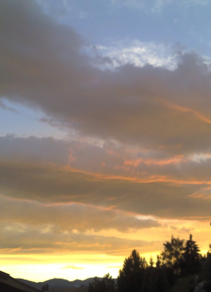 Sunset sky over Lake Chelan, Washington