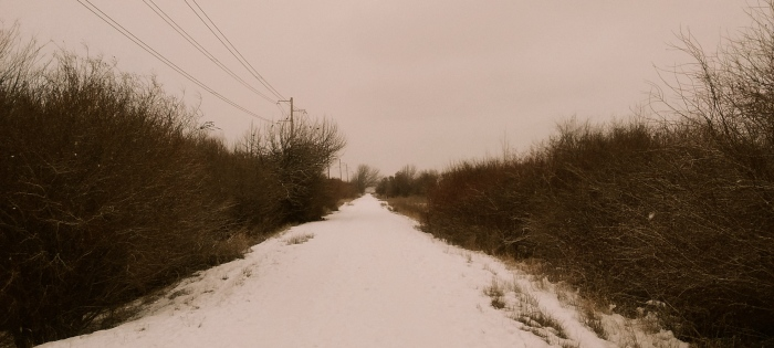 Photo of a snowy rural road